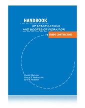 Handbook of Specifications and Scopes of Work