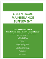 Green Home Maintenance Supplement